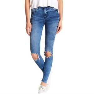 NWT Free People High Rise Busted Skinny Jeans